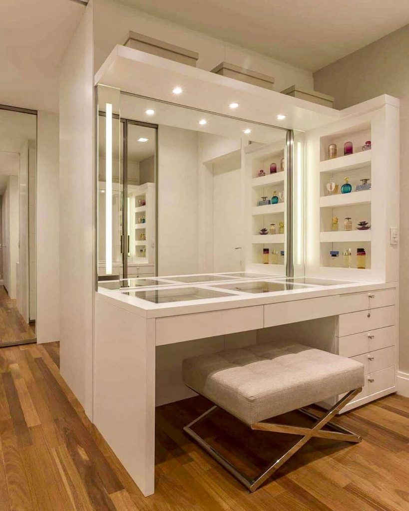 30 Clever Ways To Use Small Space For Dressing Table With Mirror Dressing Room Closet Dressing Room Design Bedroom Closet Design