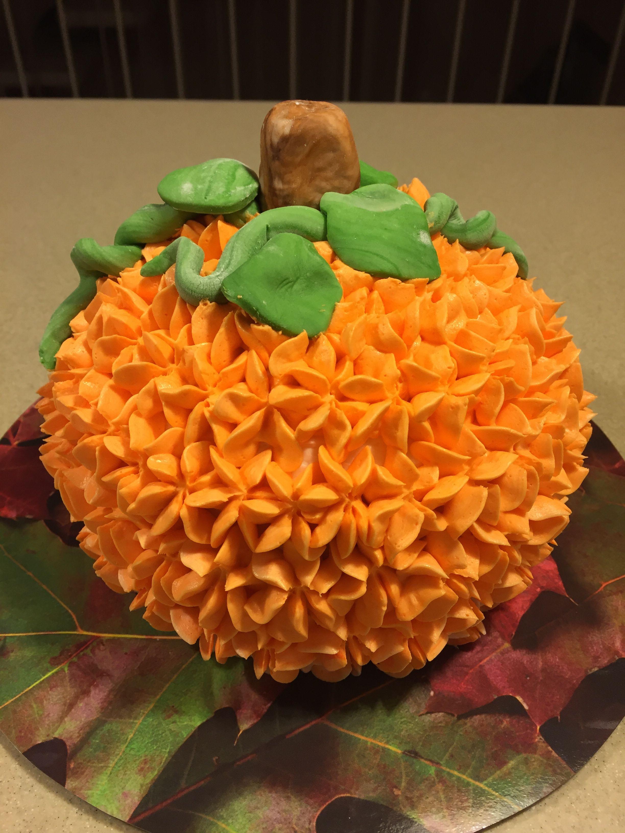 Phenomenal Pumpkin Smash Cake For My Great Nephews First Birthday Pumpkin Funny Birthday Cards Online Alyptdamsfinfo
