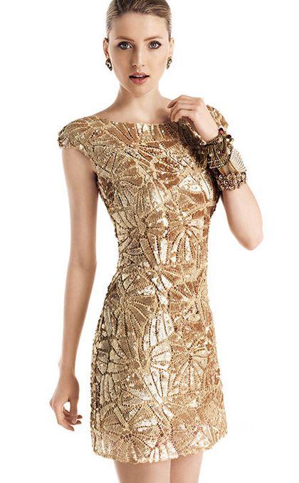 Vestidos cortos fiesta dorados