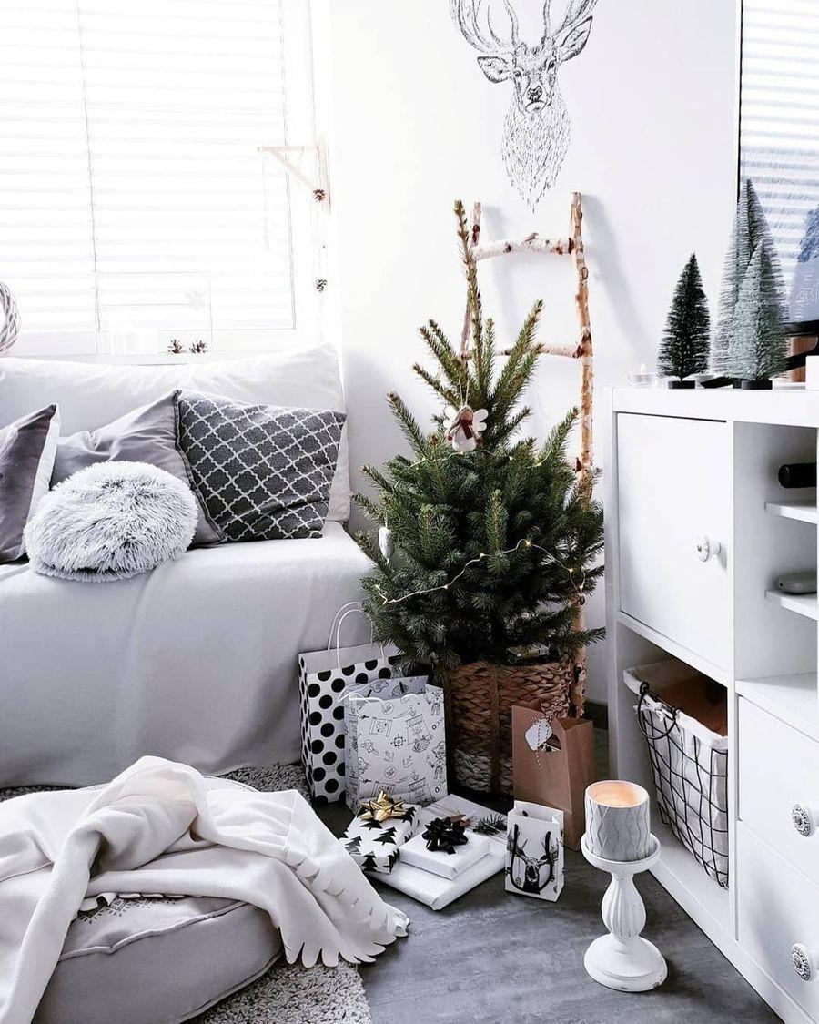 25 Scandi Christmas Living Room Decor Ideas Christmas Living Rooms Christmas Decorations Living Room Living Room Decor Elegant christmas living room