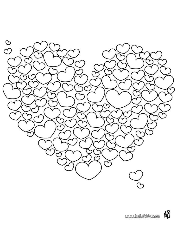 Looks Like It Would Take A Lot Of Time But Would Be Cute Valentine Coloring Pages Heart Coloring Pages Valentine Coloring