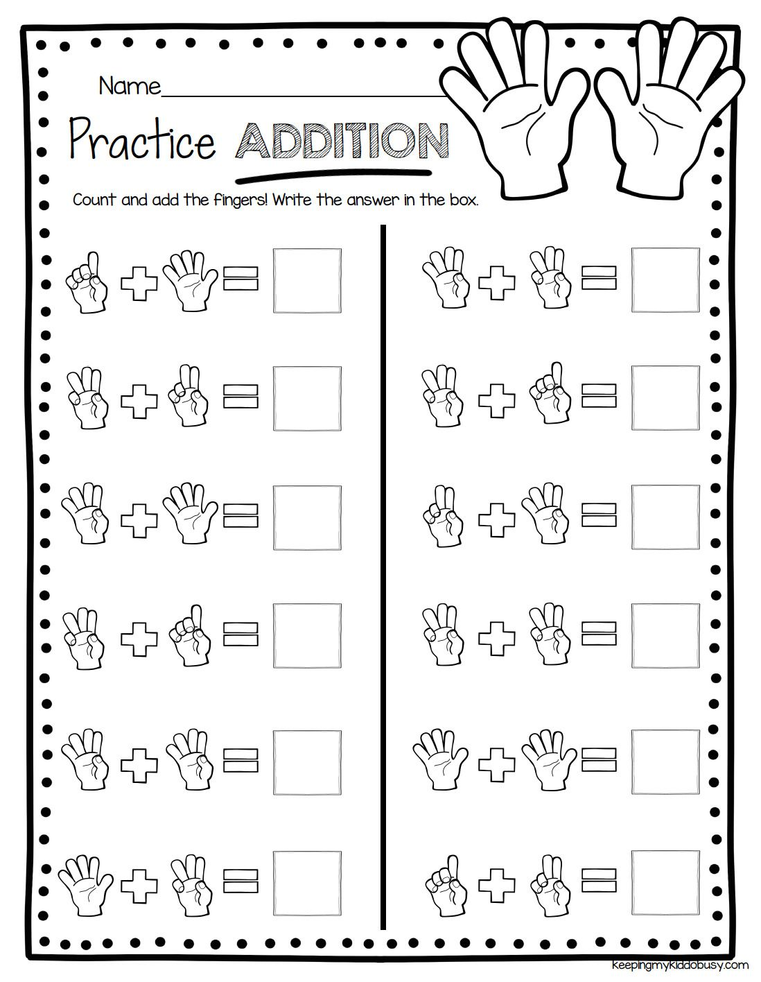 Addition Easy Math For Kindergarten Math Tricks Kindergarten Math Worksheets Addition Kindergarten Addition Worksheets Math Addition Worksheets