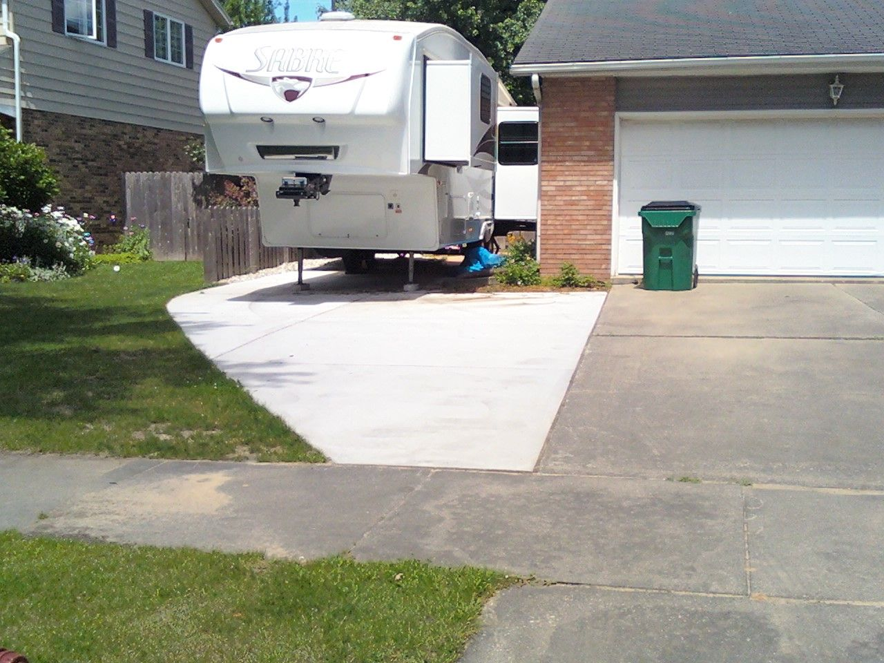 driveway addition for rv my concrete jobs pinterest
