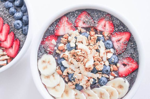 Vegan berry crunch breakfast bowl.  Shake Up Your Breakfast with A Smoothie Bowl - SELF