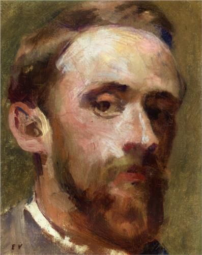 Self-Portrait,1888 ~ Edouard Vuillard (1868-1940) was a French painter and printmaker associated with the Nabis (art group).