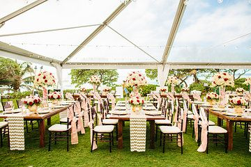 Jay And Jena S Wedding Reception Decor At The Turtle Bay Resort Kuilima Point Flowers