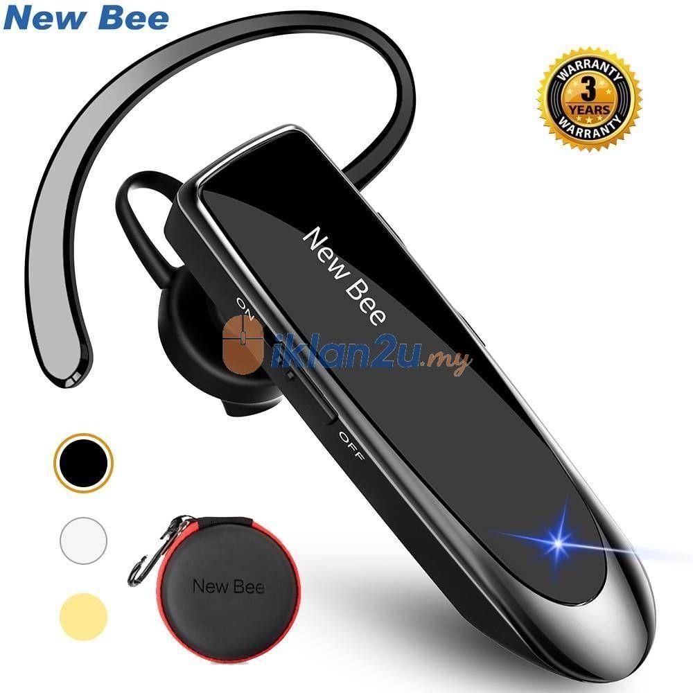New Bee Bluetooth Headset 5 0 Earpiece Bluetooth Headset Earpiece Bluetooth Device