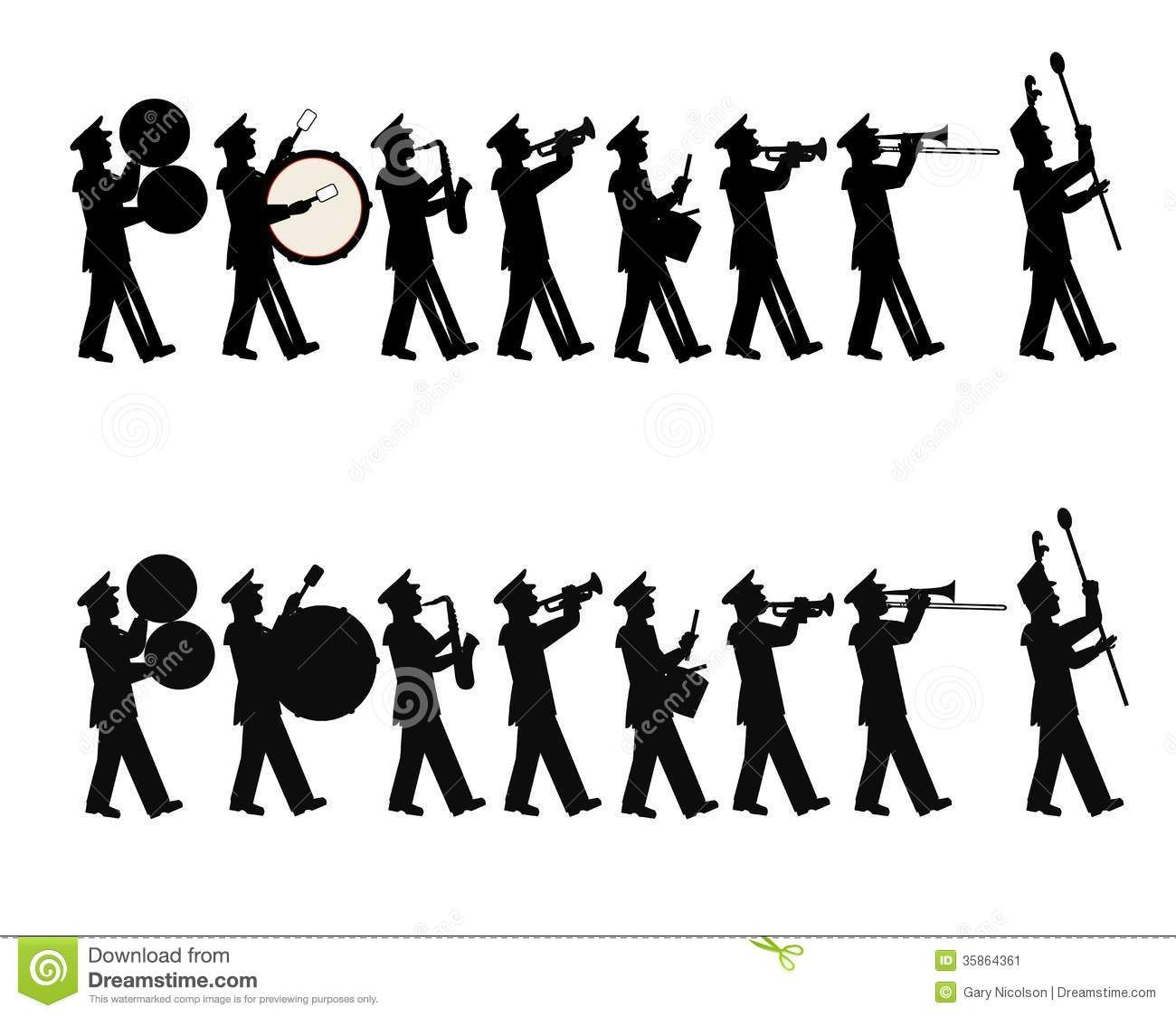 Marching Band Clipart Clarinet Marching Band Stock Im...