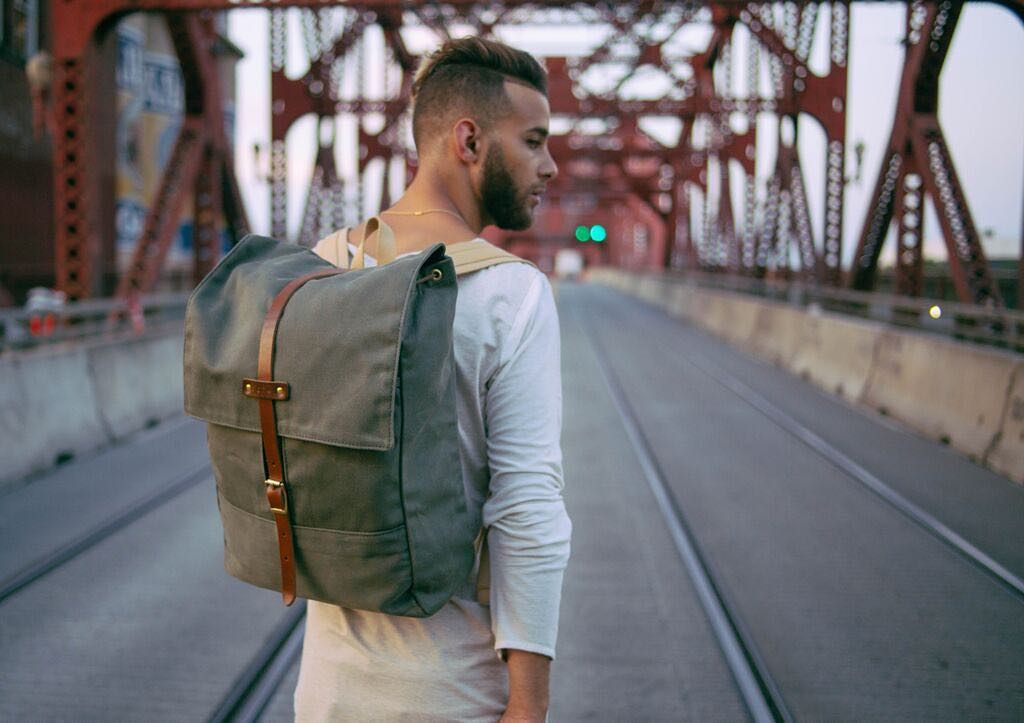 New @makersmarket  this rugged rucksack is roomy and comfortablemade from closely woven waxed twill perfect for keeping your belongings dry and safe in any condition. Great for bicyclists motorcyclists and anyone else who regularly faces the elements.  Remember 20% off thru tomorrow!  @archivalclothing #letsgosomewhere #wanderlust #liveauthentic #livefolk #backpack #backpackingaddicts #backpacking #hiking by folkmagazine