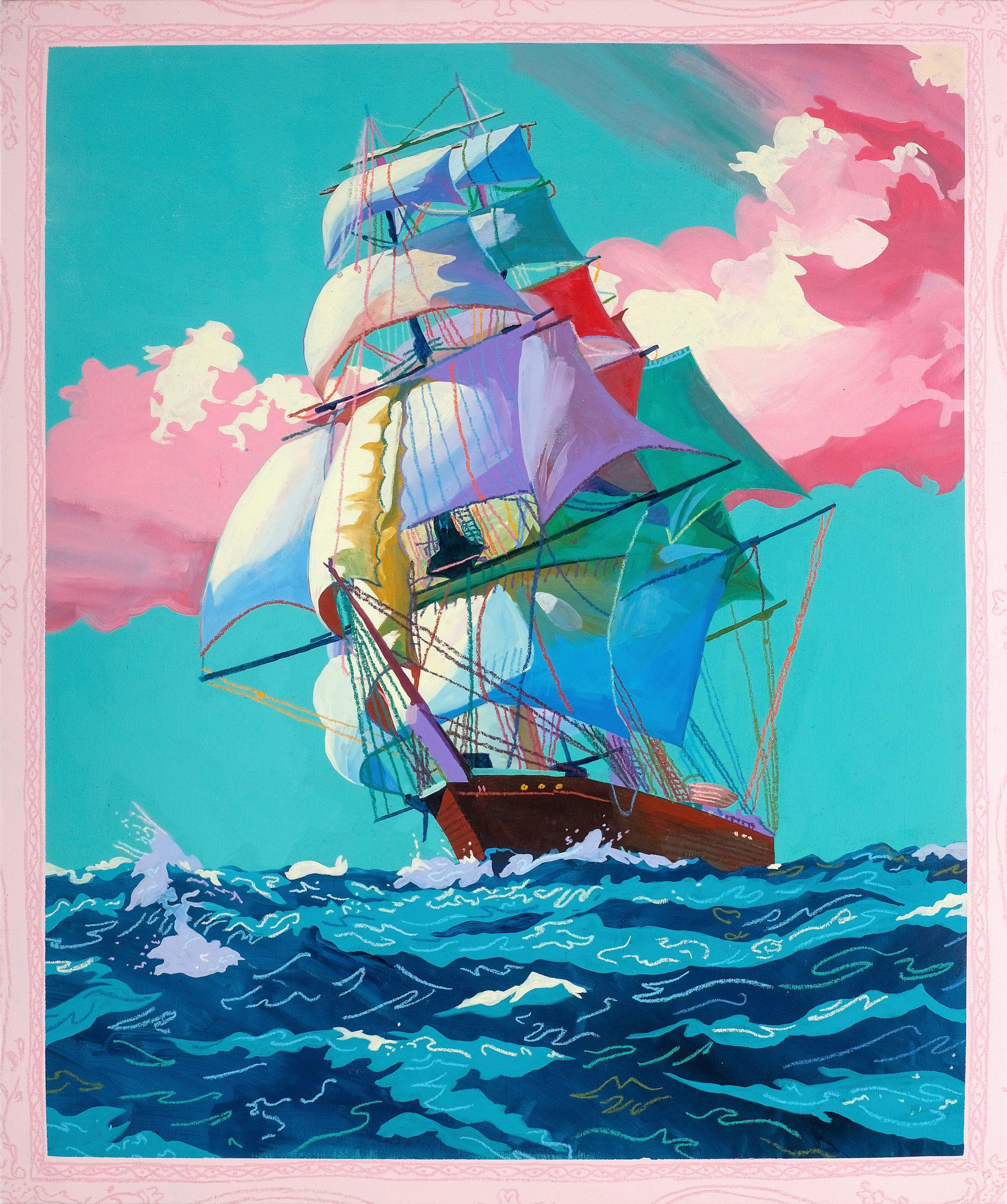 Andy Dixon NUVO Ship paintings, Cool paintings, Artwork