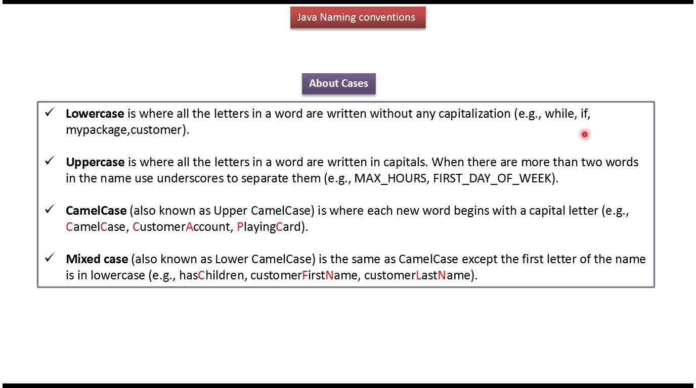 Java tutorial what is java naming conventions j2ee pinterest java tutorial what is java naming conventions baditri Choice Image