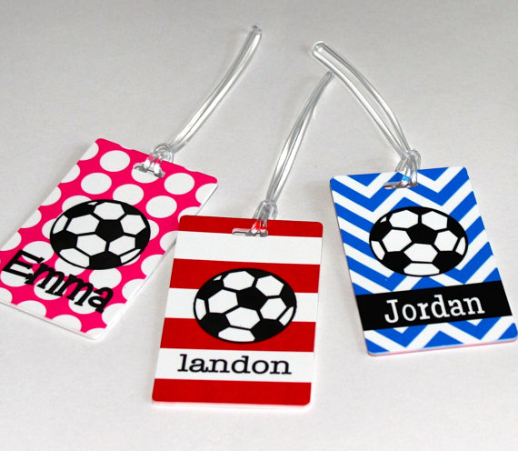Personalized Soccer Bag Tag By Hythoughtsgifts