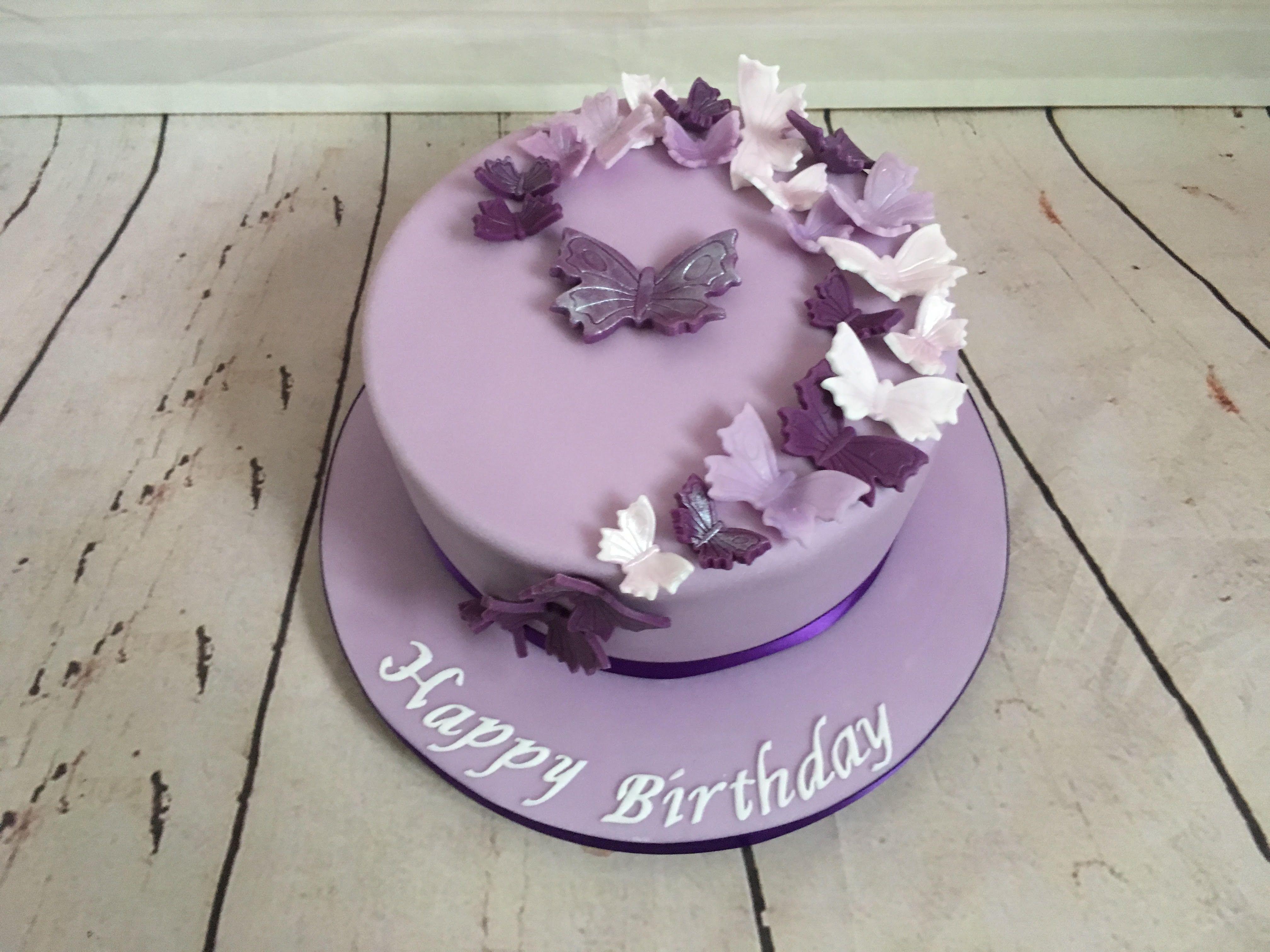 Purple Butterfly Cake Www Sunflowerpatisserie Co Uk Butterfly