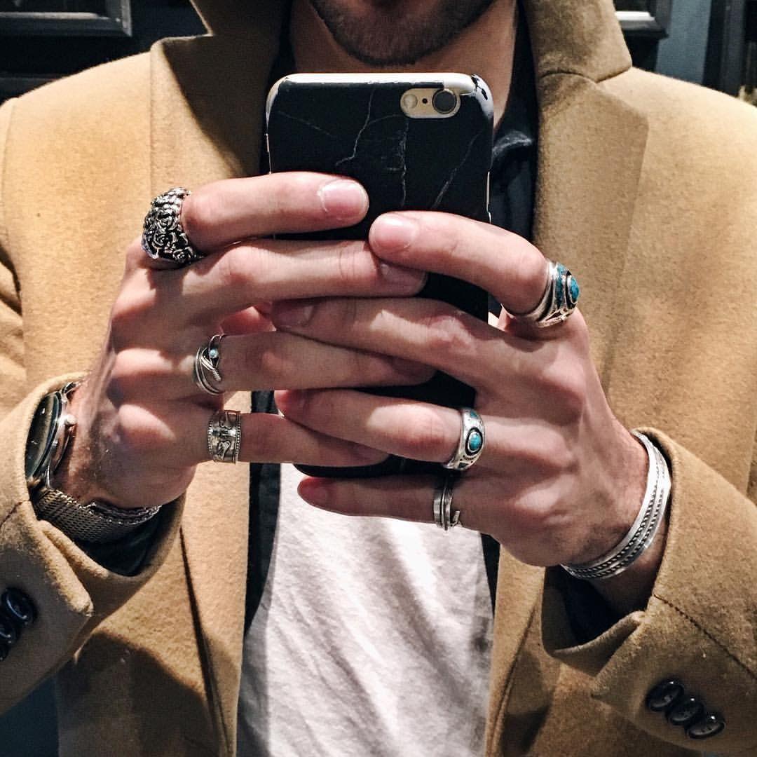bague homme fashion