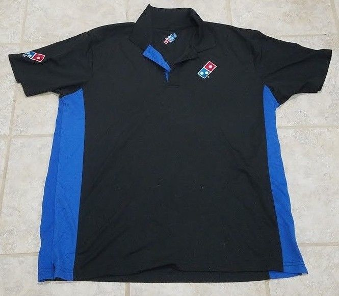 cff9d0c5c Dominos Pizza Employee Uniform Short Sleeve Polo Shirt Men s Size Large   Dominos