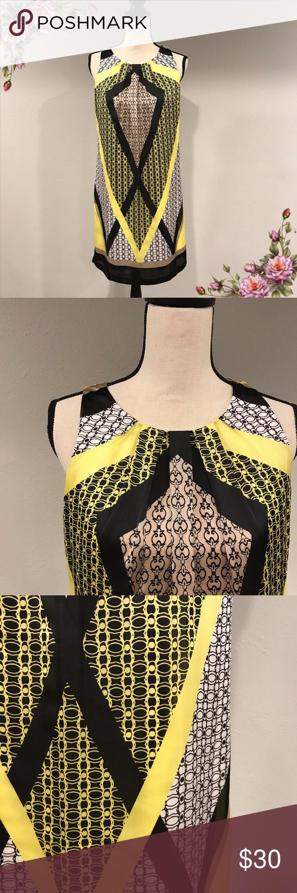 MAKE AN OFFER ;) Geometric sleeveless dress #blacksleevelessdress