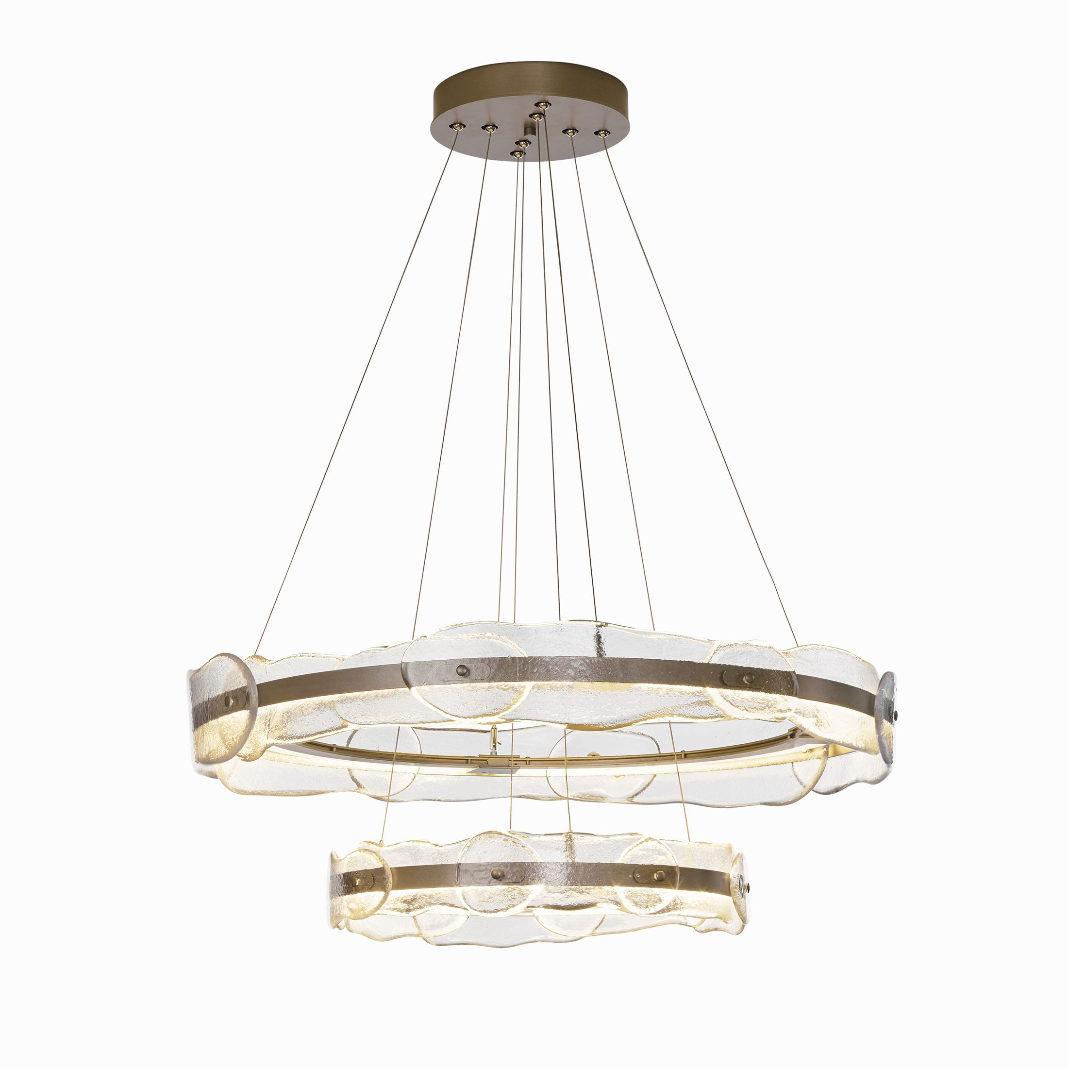 Solstice led tiered pendant an elegant two tiered pendant solstice led tiered pendant an elegant two tiered pendant featuring a graceful surround of art glass entices you to contemplate the beauty of this aloadofball Images