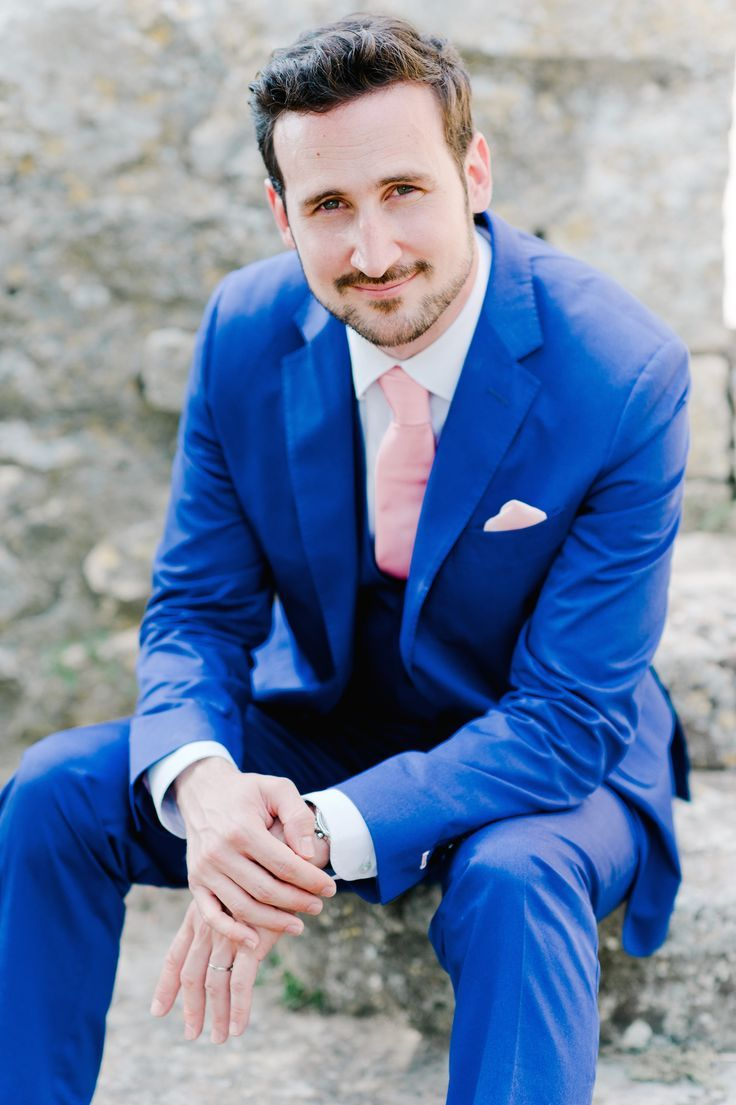 Because Dapper Grooms wear Blue Suits | Wedding stuff, Groom style ...
