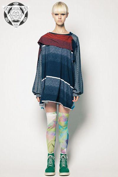 "bodysong Legwear ❤ グラフィックタイツ""zzz"" ➦ http://www.faketokyo.com/shopdetail/103000000038/"