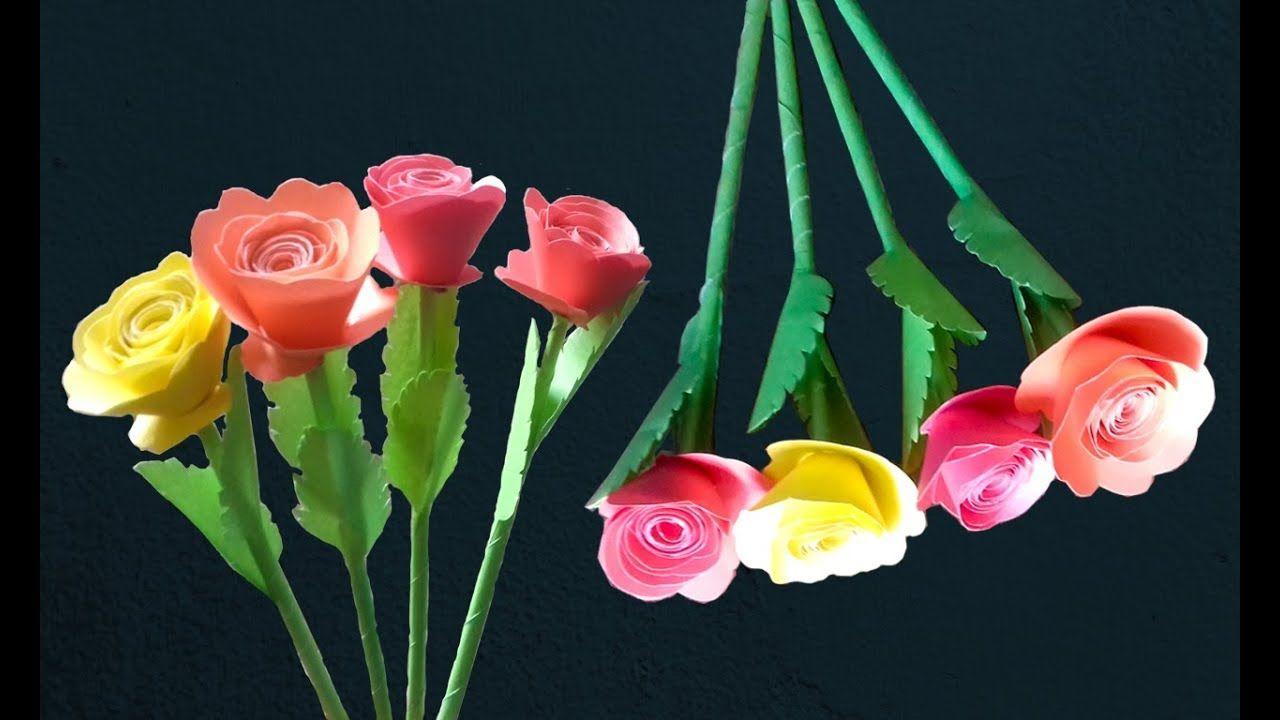 Colour Paper Rose Flower Rose Paper Flower Diy Paper Roses Paper Flowers Diy Paper Flowers