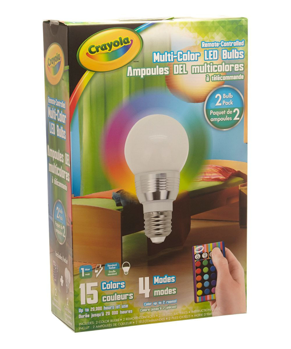 Crayola Color Changing Led Light Bulb Set Of Two Color Changing Led Light Bulb Led Light Bulb