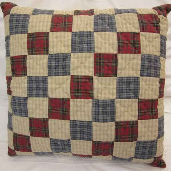 Image detail for -65 00 tartan quilt cushion hand quilted and ... : tartan patchwork quilt - Adamdwight.com