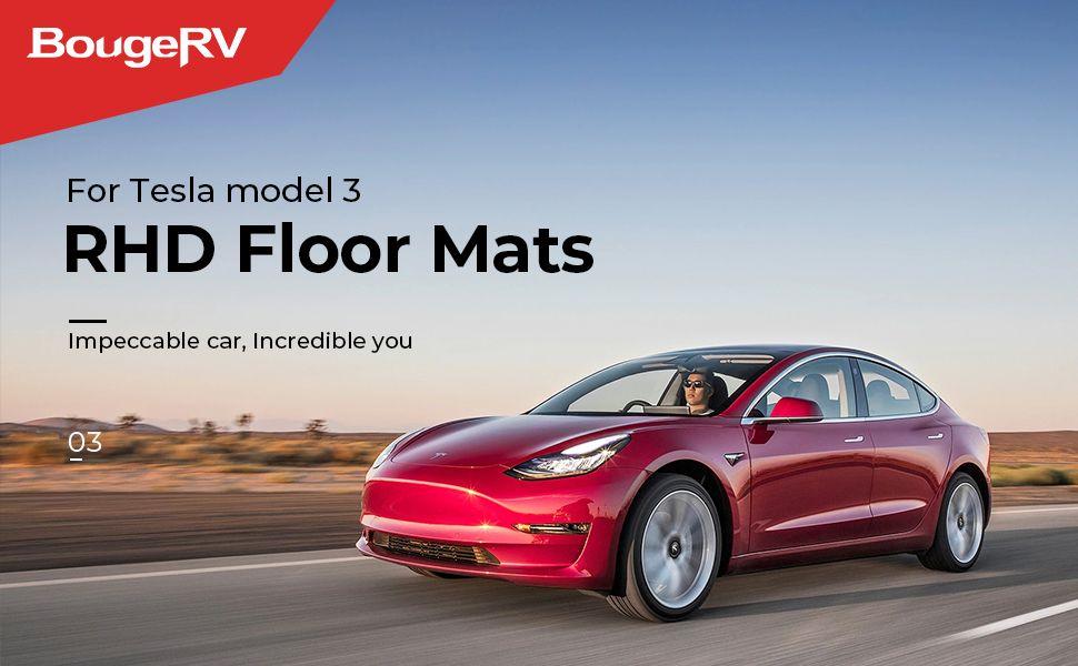 For Rhd Tesla Model 3 All Weather Floor Mats