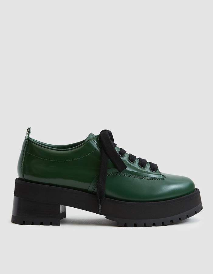 1181f67d02 Marni Laceup Platform Oxford. Lace-up shoe from Marni. Calfskin upper. Heel  pull tab. Round toe. Lace-up front with heavy flatwoven laces. Lug heel.