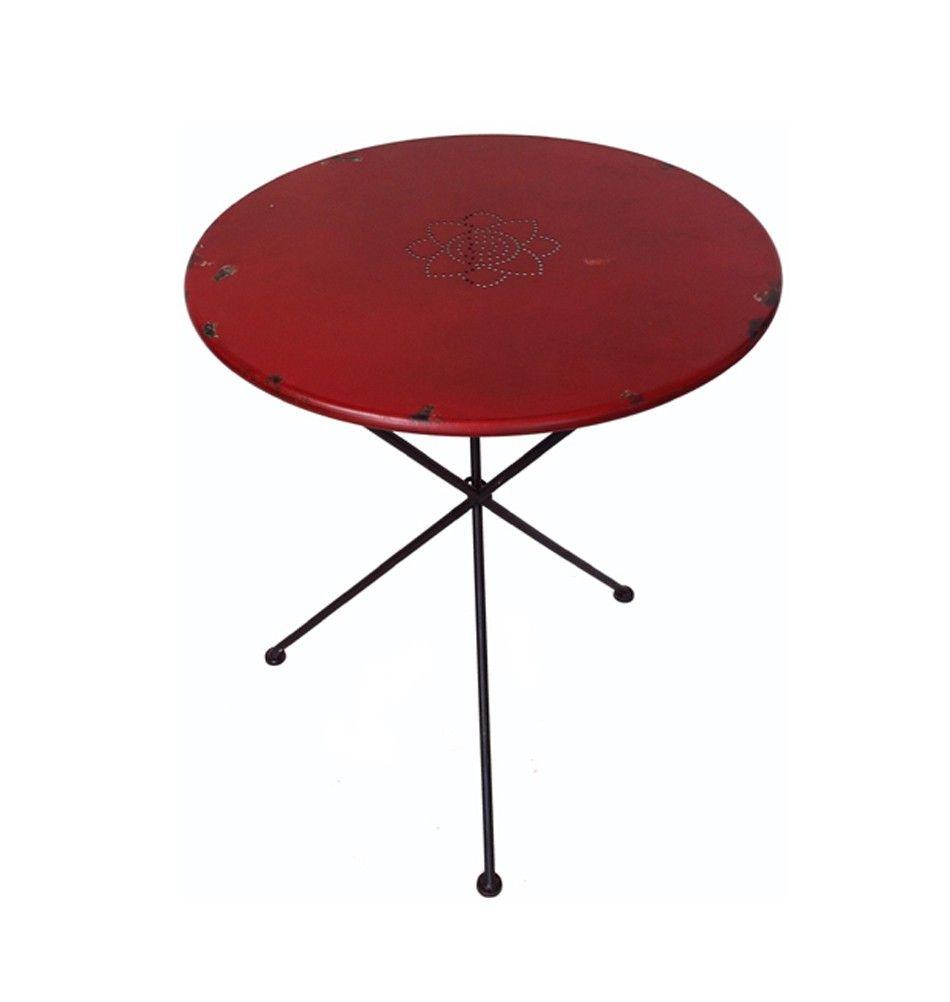 Metalltisch Klappbar Breno Rot Metalltische Metallmobel Tisch