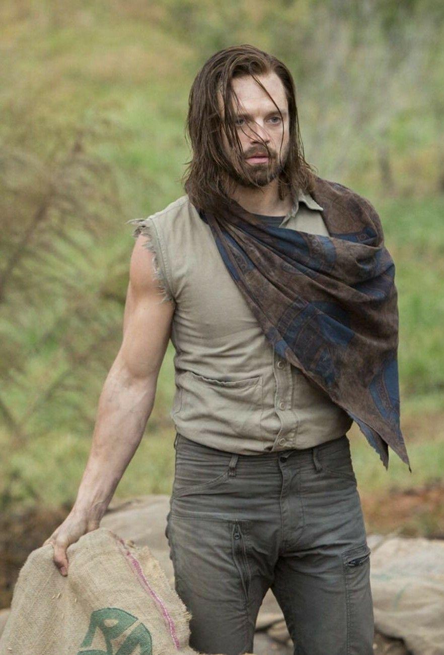 Bucky in Wakanda, providing labor aid on a goat farm