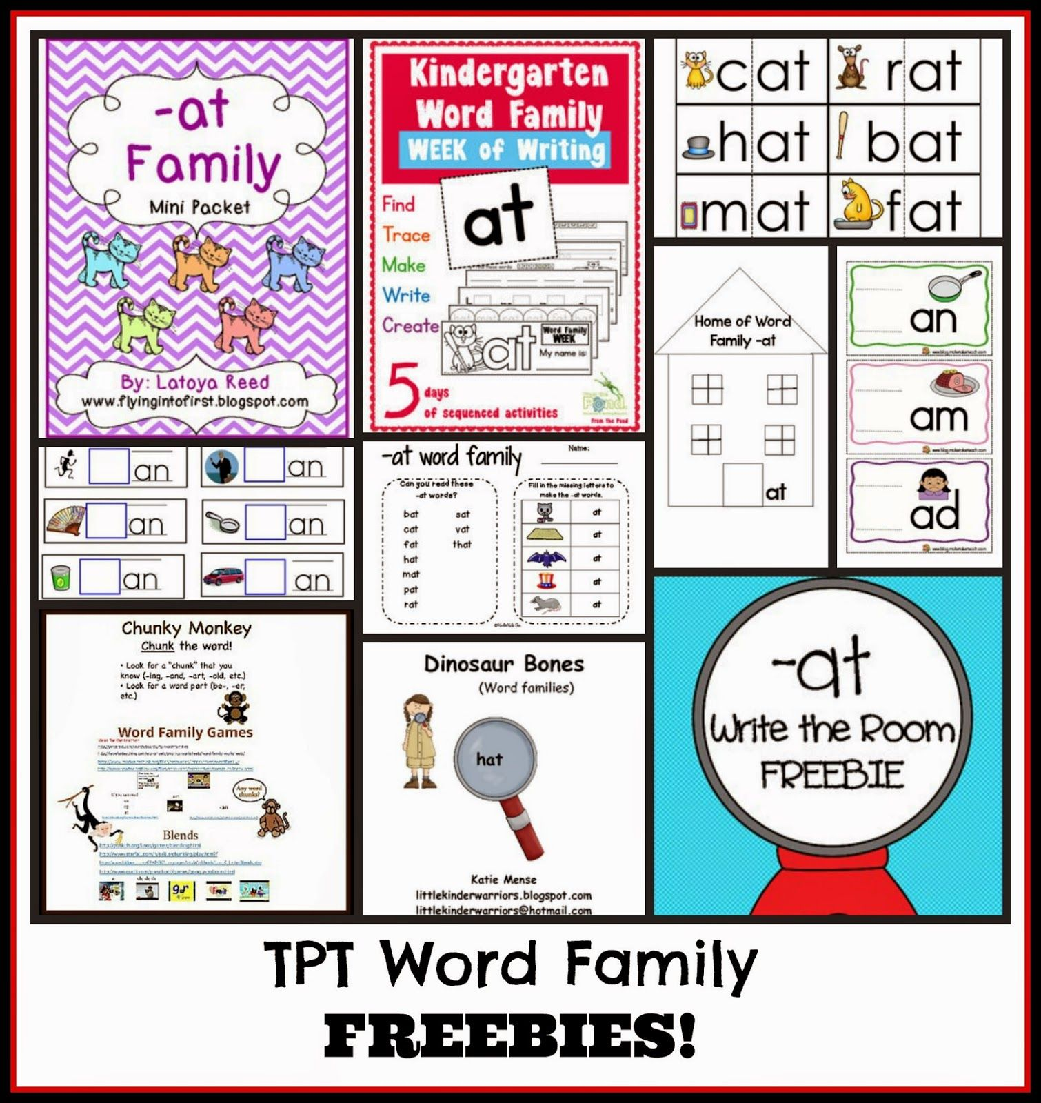 Kindergarten Holding Hands And Sticking Together Word Families And Lots Of Freebies