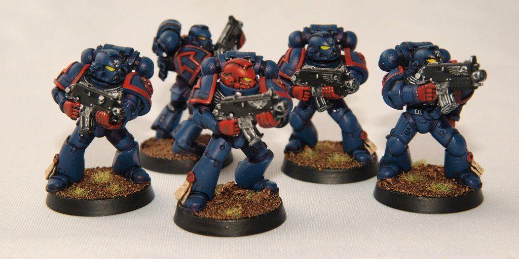 Crimson Fist Space Marines by etiennekendrick.deviantart.com on @deviantART