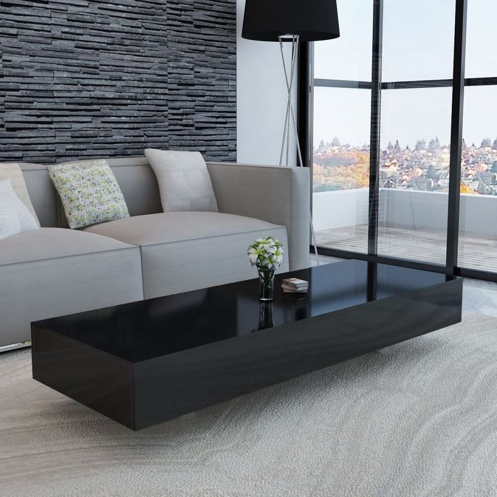 Large Black High Gloss Coffee Table Rectangular White Modern Long Shine Coffee Table Design Modern Contemporary Living Room Furniture Living Room Coffee Table [ 1000 x 1000 Pixel ]