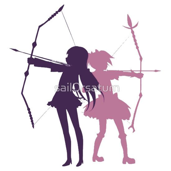 Homura And Madoka Bow Arrow