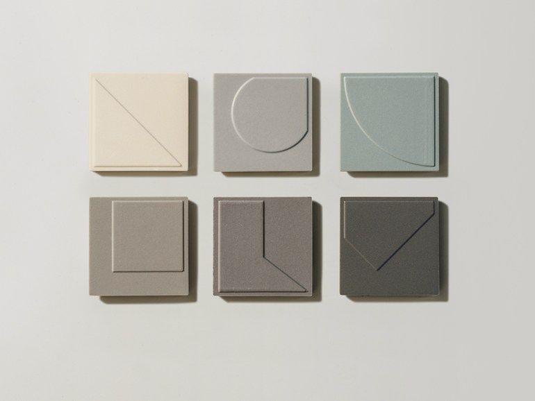 Wand- und Bodenbelag aus Feinsteinzeug NUMINI by MUTINA Design Konstantin Grcic