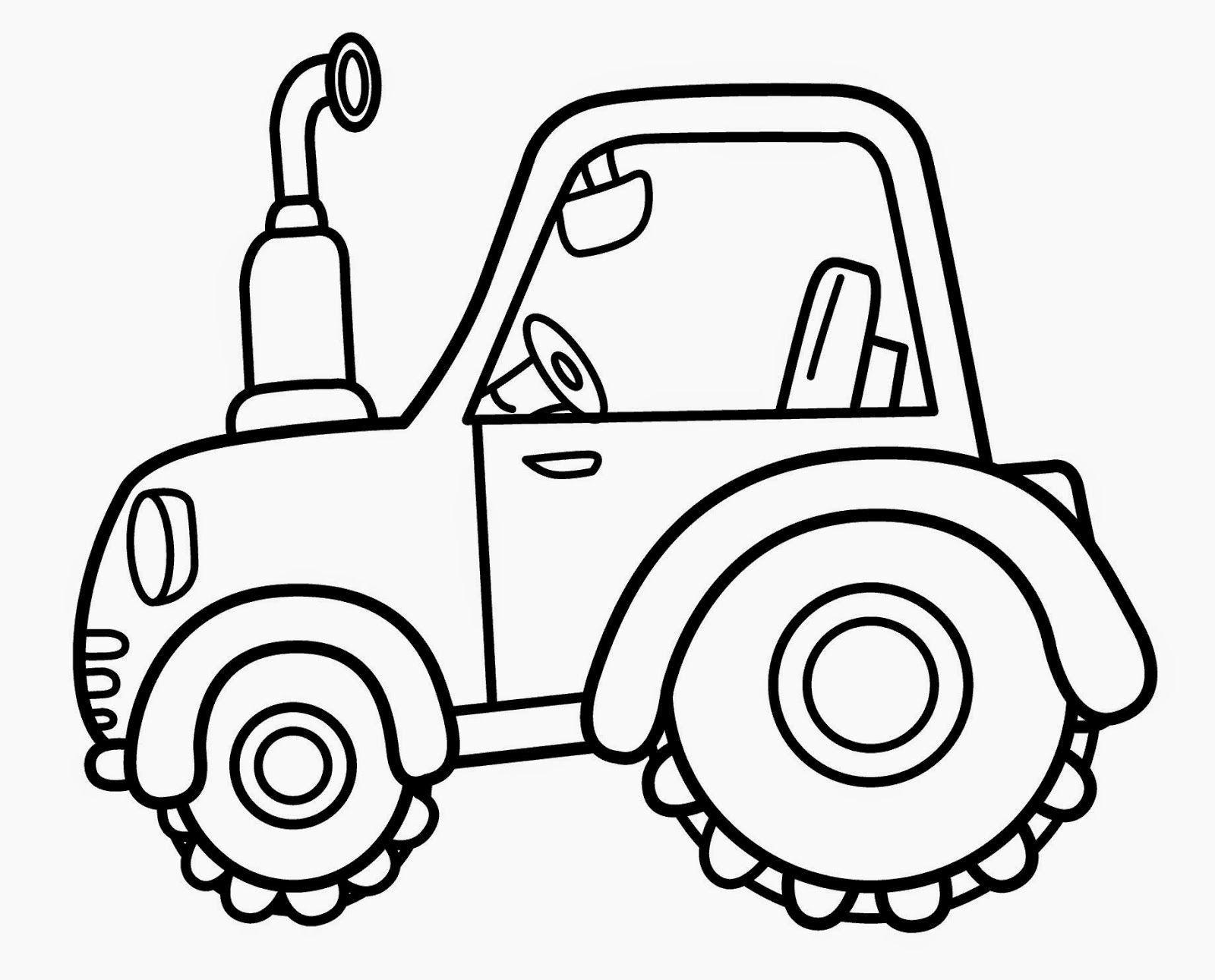 Malvorlage traktor einfach Coloring and Malvorlagan