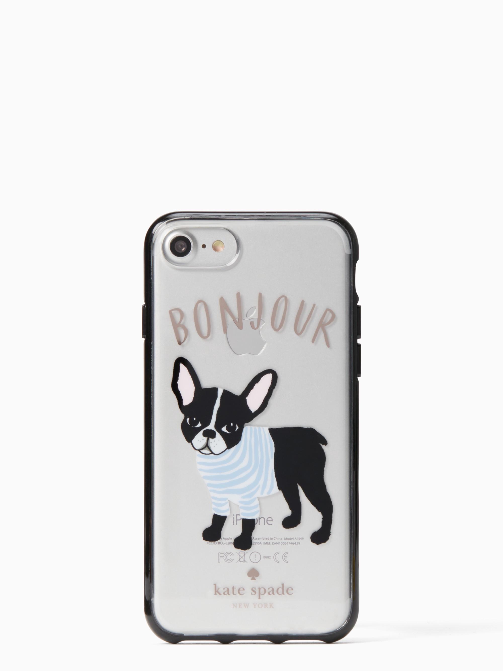 Kate Spade Bonjour Antoine Iphone 7 8 Case - Clear Multi  64cce4689b4ff