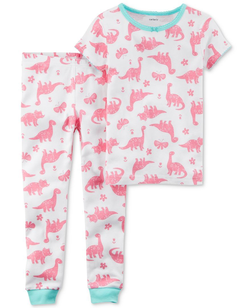 6e40619849 Carter s 2-Pc. Dino-Print Cotton Pajamas