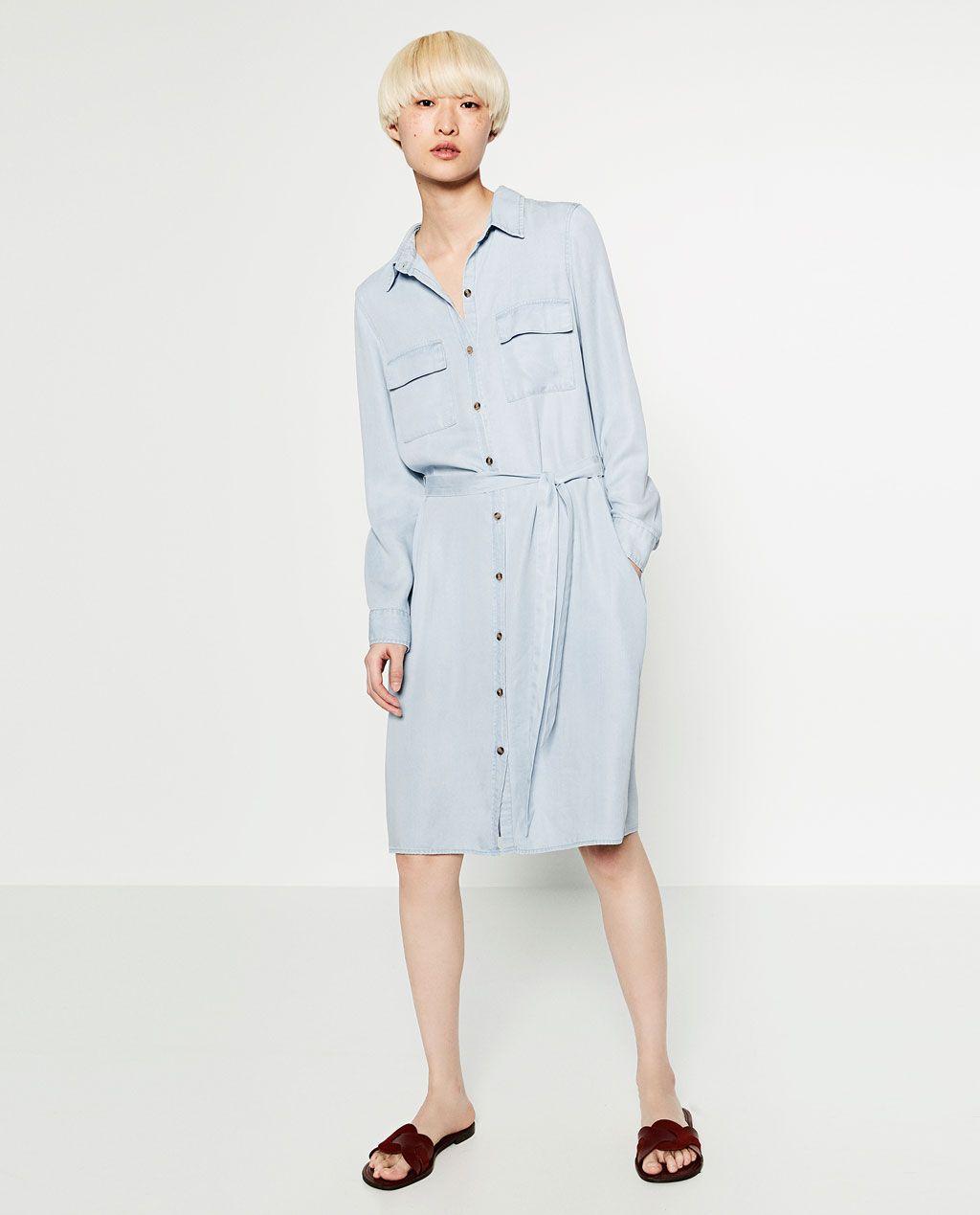 6f36b2549 Image 1 of DENIM SHIRT DRESS from Zara | my wardrobe | Denim shirt ...