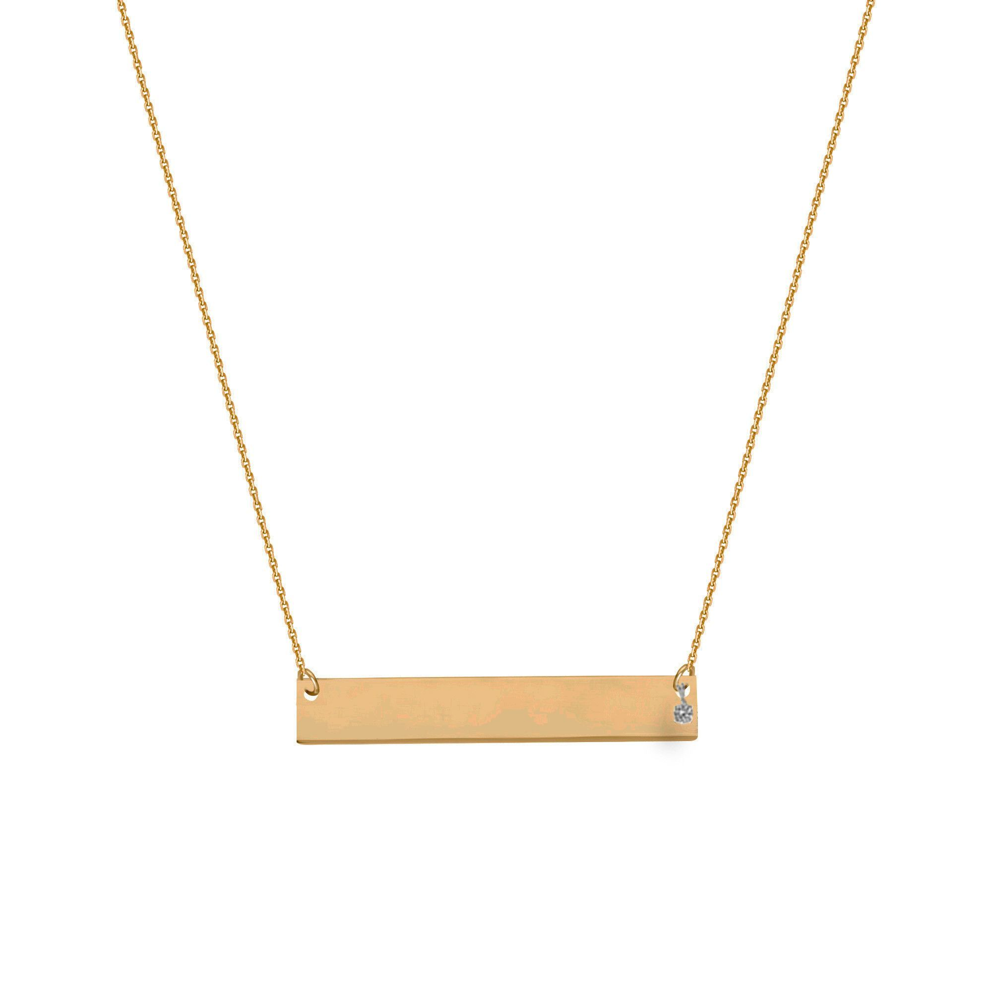 credit suisse gold necklace pendant in yellow estate fine bar