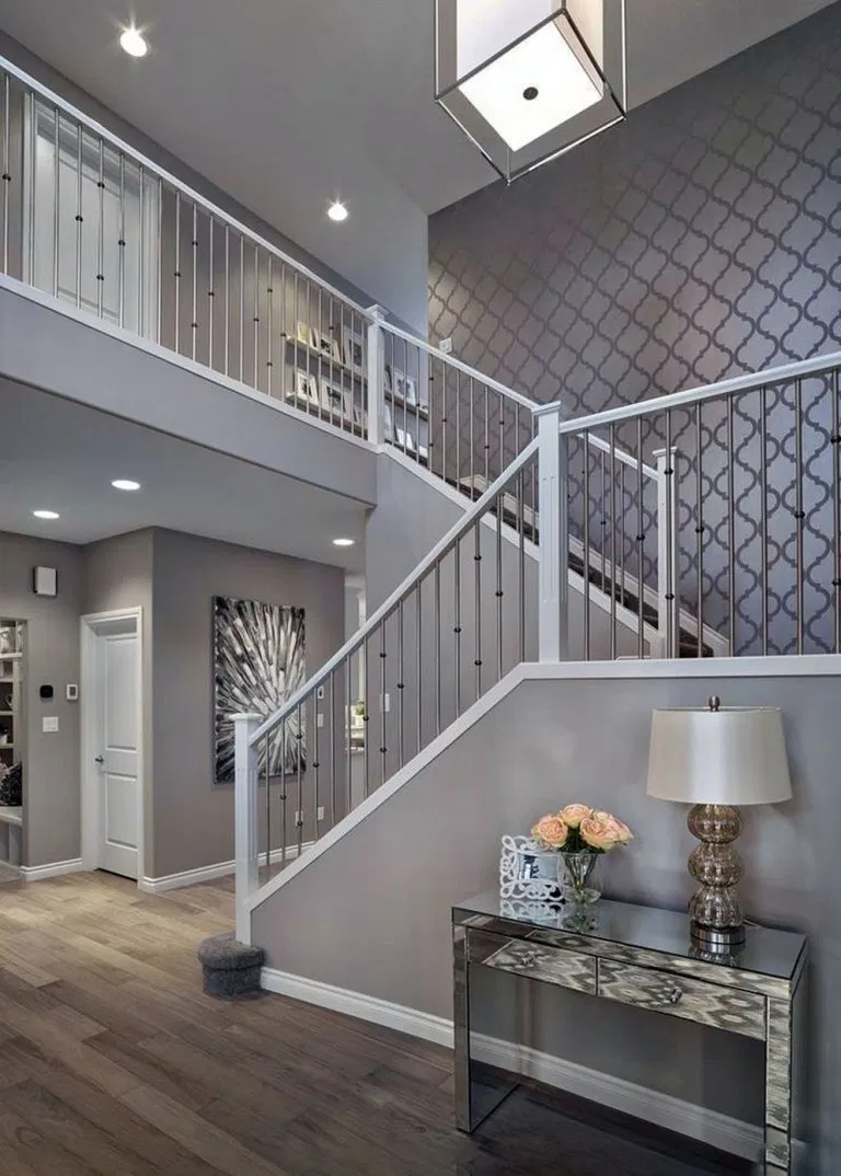 35 Ideas To Choose Gray Paint Colors Accent Colors For Rooms Sorozatmania Com Gray Han In 2020 Accent Walls In Living Room Accent Wall Entryway Foyer Decorating