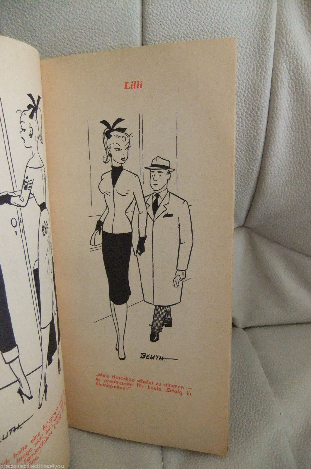 2 Gd Good German Picture Book Vintage Bild Lilli Hausser Barbie 11