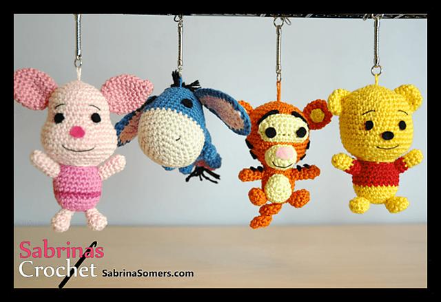 Tigger Winnie The Pooh Pattern By Sabrina Somers Crochet Keychain Pattern Crochet Baby Mobiles Crochet Patterns