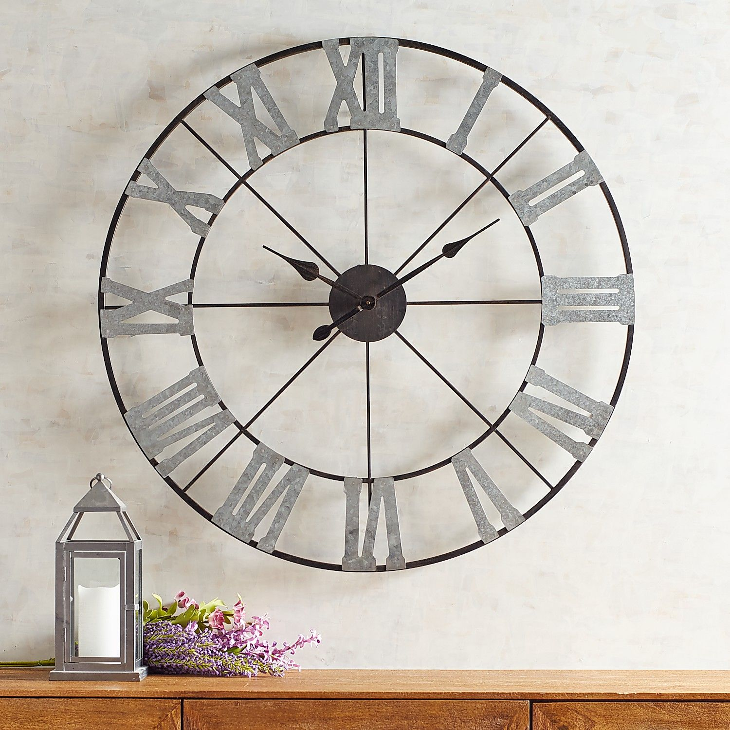 Classic metal wall clock in products pinterest clock