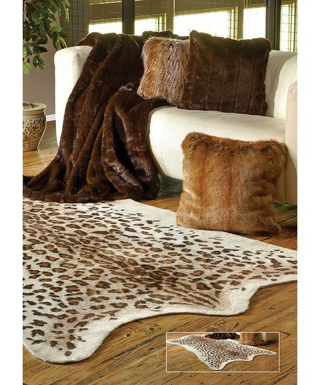 Donna Salyers Fabulous Furs Leopard Faux Hide Skin Rug Zulily