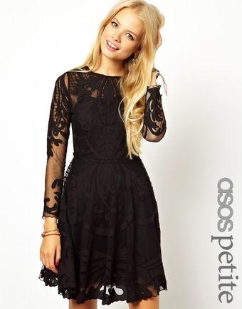 a3c0341942b1e1 Asos Exclusive Premium Applique Mesh Skater Dress - Lyst   DRESS ME ...