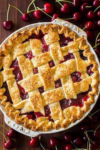 Classic Cherry Pie Recipe (VIDEO) (Natasha's Kitch