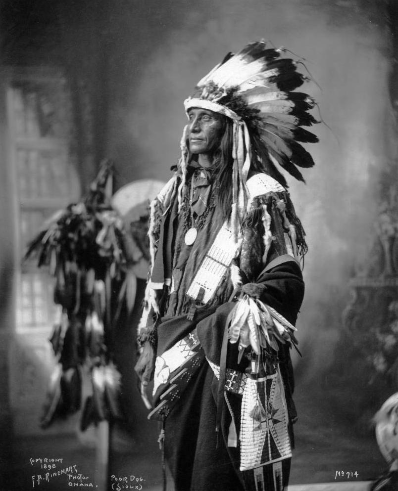Poor Dog, Native American Sioux (Lakota) man - Frank A Rinehart - 1898