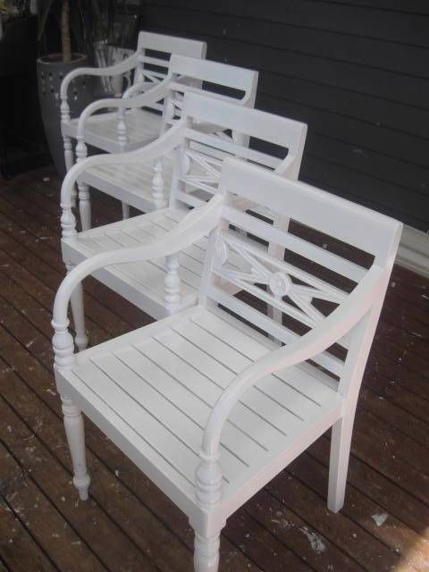 4 set VINTAGE WHITE CARVED timber seats CHAIRS FRENCH PROVINCIAL OUTDOOR  DINING - 4 Set VINTAGE WHITE CARVED Timber Seats CHAIRS FRENCH PROVINCIAL