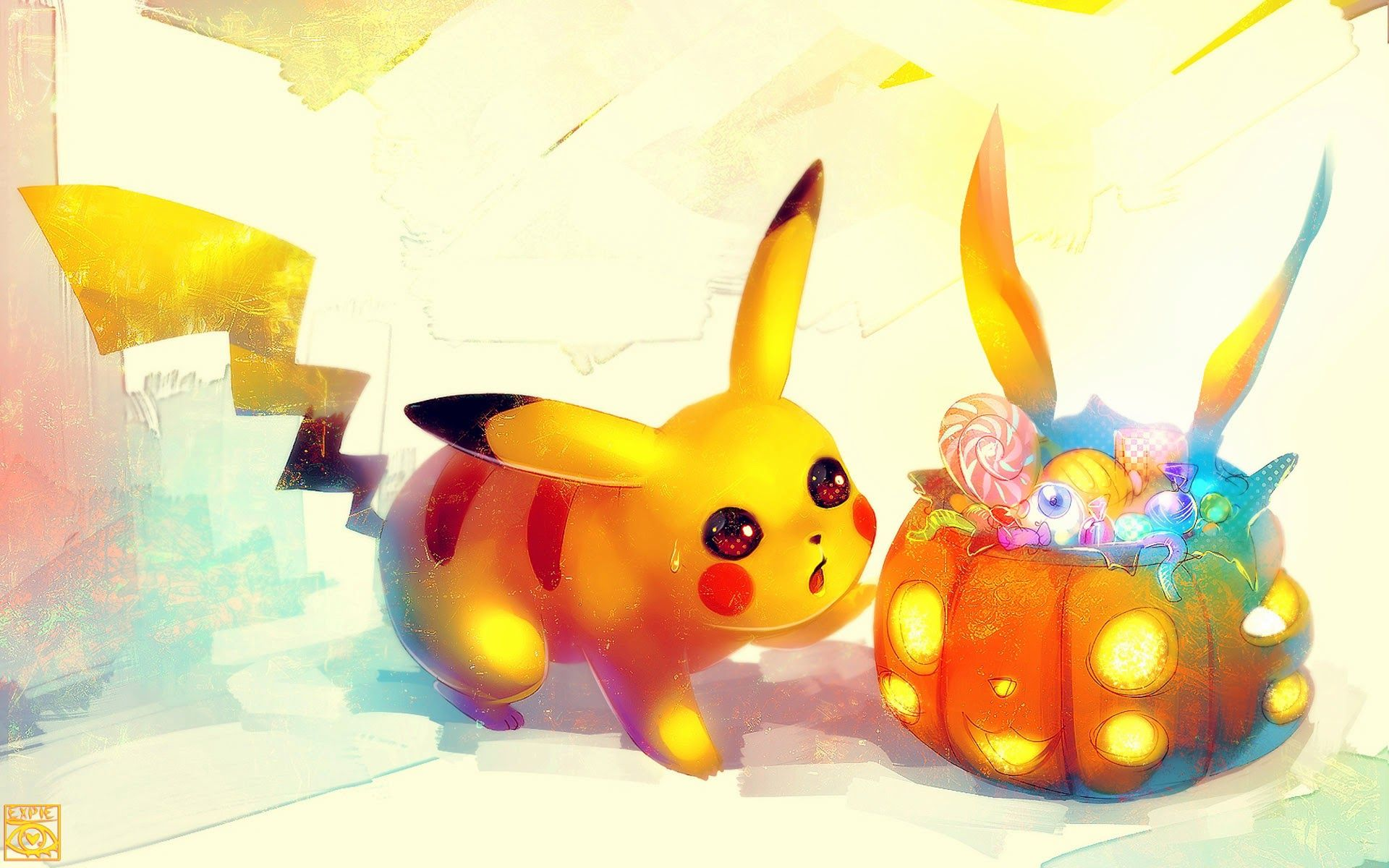 sweet halloween! | Pikachu wallpaper, Cute pokemon ...